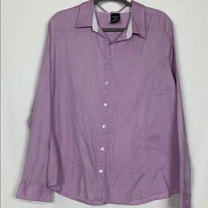 George purple button down woman's shirt size XXL